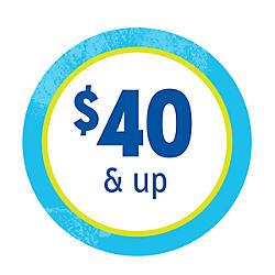$40 & up