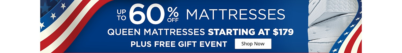 Shop Up to 60% off Mattress Event