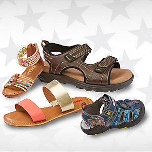 Up to 50% off sandals for the family