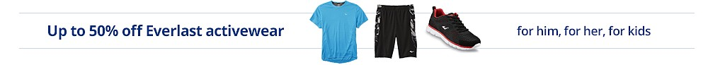 up to 50% off Everlast activewear for him for her for kids