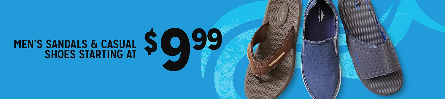 Men's shoes starting at $9.99