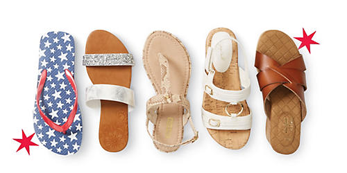 Buy a pair of sandals, get a pair for $1