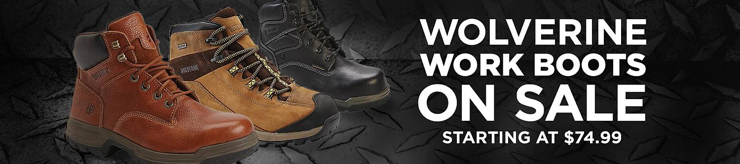 Wolverine work boots on sale