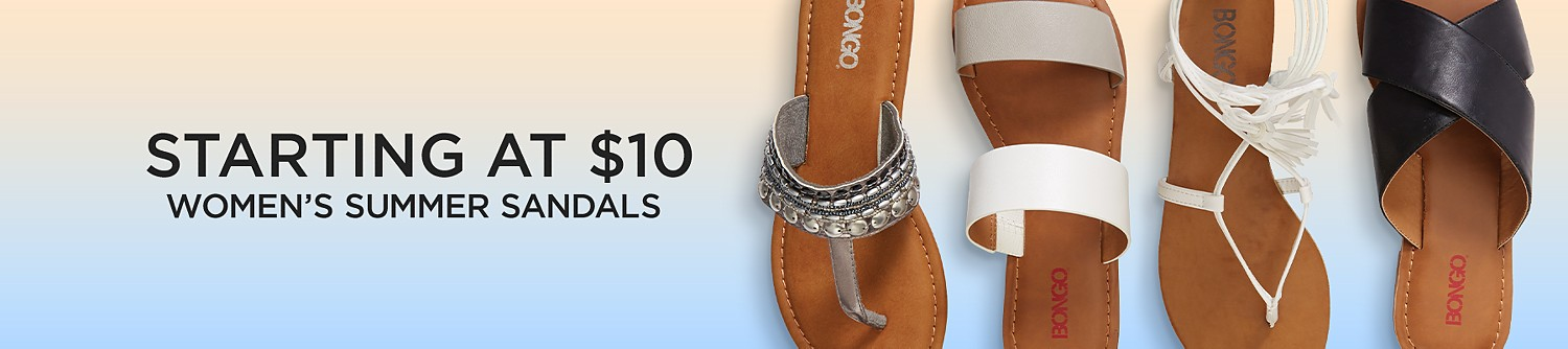 Womens sandals starting at $10