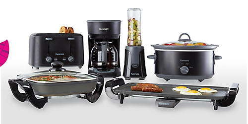 Shop new Kenmore small kitchen appliances & cookware, $19.99 & up