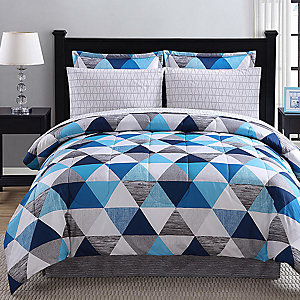 Colormate complete bed sets, sale $46.99 twin or full  set includes, comforter, pillow sham(s), bedskirt and sheet set!