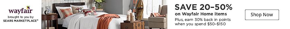 SAVE 20-50% on Wayfair Home items