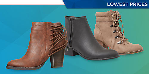 Starting at $29.99  All women's fashion boots on sale