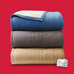 Up to 50% on blankets & throws Twin Cannon heated sherpa blanket only $24.99
