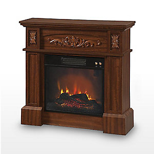 Curl up by the fire | Featuring Livingston fireplace, $109.99