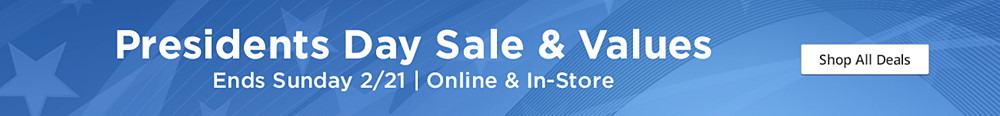 President's Day Sale & Values