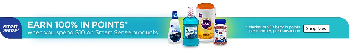 smart sense | SHOP SMARTer | MEMBERS EARN 100% BACK IN POINTS on purchases of $10 or more on Smart Sense products | Shop Now