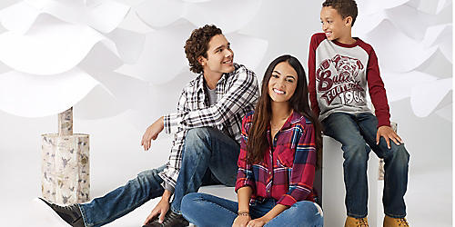 Up to 50% off jeans for him, her & the kids