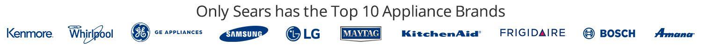Solo Sears tiene las 10 mejores marcas de electrodomésticos.