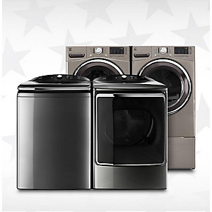 Up to 40% off washers & dryers, starting at $319.99