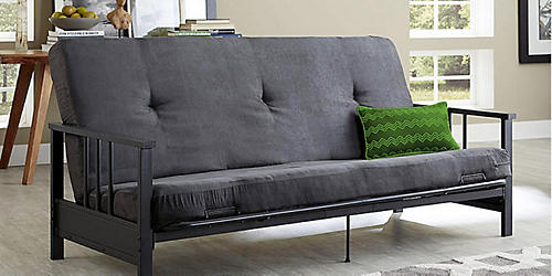 Furnish your home in style | Save on living room furniture featuring essential Home Watson futon, $149.99