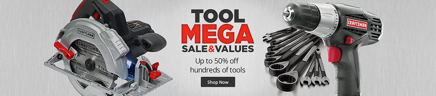 Tools Mega Sale- Up to 50% Off on Hundreds of Tools
