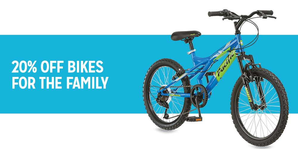 20% off bikes for the family
