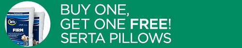 Buy One, Get One FREE! Serta Firm & Extra-Firm Density Pillows