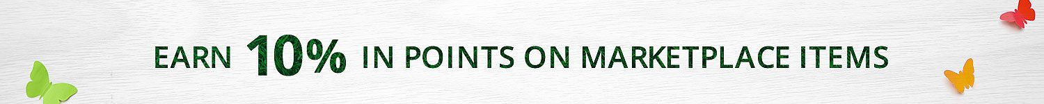 Earn 10% in points on all Marketplace Items