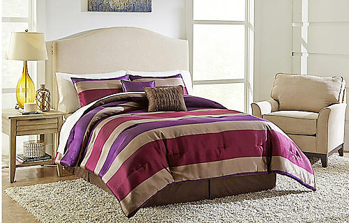 Any size Essential Home 5-piece comforter sets, $49.99 | Spend $30 on bedding, earn $10 in points