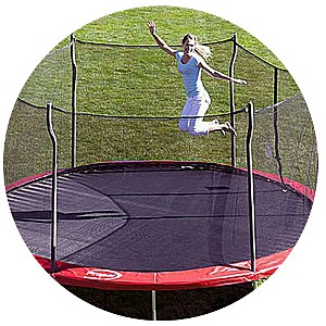 Propel Trampolines 15' Enclosed Trampoline w/ Anchor Kit SPECIAL OFFER: FREE JUMP N JAM WITH PURCHASE