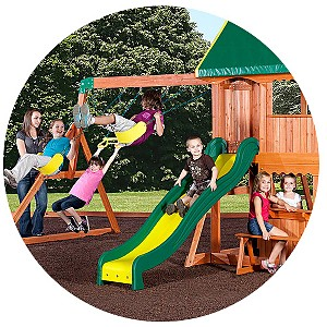 BACKYARD X-SCAPES, INC Somerset Wood Swing Set