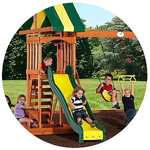 BACKYARD X-SCAPES, INC Prestige Wood Swing Set