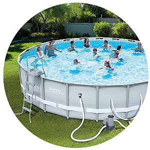 Pro-Series 22' Round Steel Frame Pool Set