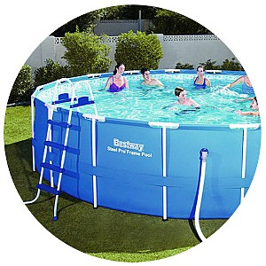 Bestway 18' x 48'' Steel Pro™ Frame Pool Set