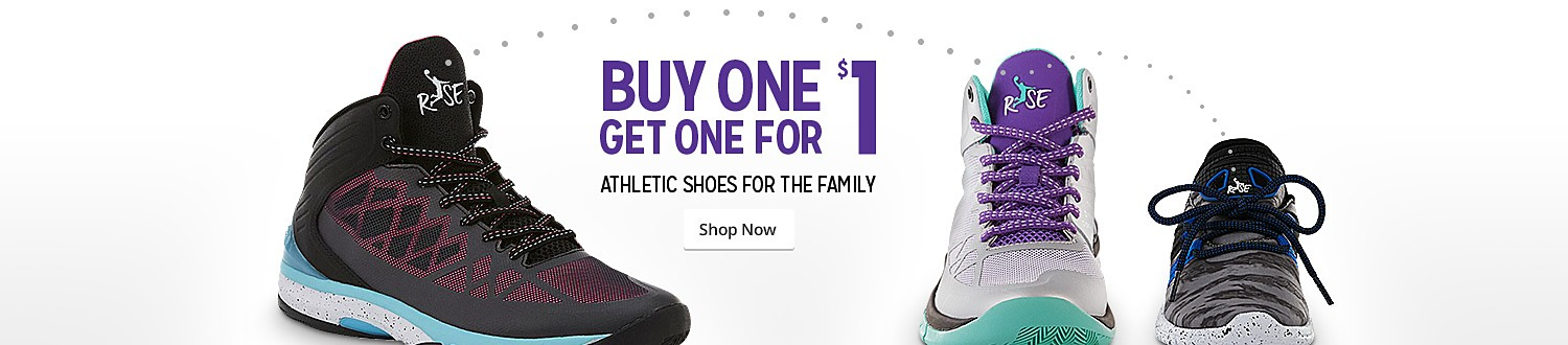 Buy One Get One for $1 | Athletic shoes for the family | Shop Now