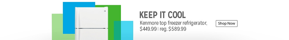Kenmore top freezer refrigerator $449.99 | reg. $589.99