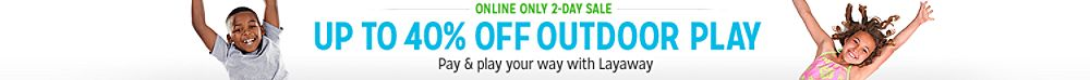 Outdoor Play 2 day sale