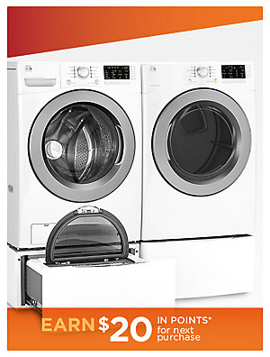 Up to 35% off Washers & Dryers Kenmore 4.5 cu. ft. Front-Load Washer & 7.3 cu. ft. Gas or Electric Dryer w/ Sensor Dry, sale $599.99 ea | reg. $939.99