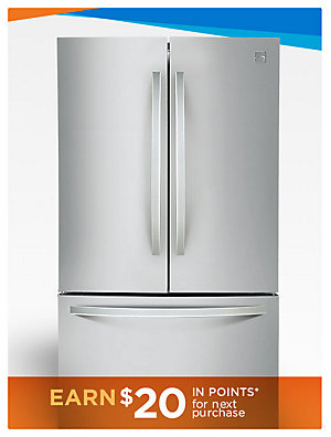 Up to 40% off Refrigeration Kenmore 70413 27.6 cu. ft. French Door Refrigerator - Stainless Steel, sale $1099.99 | reg $1999.99