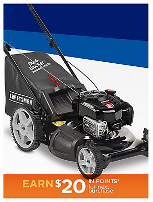 "Up to $100 off Craftsman Lawn Mowers! Craftsman 163cc Briggs and Stratton Engine 21"" 3-In-1 Lawn Mower sale $239.99 
