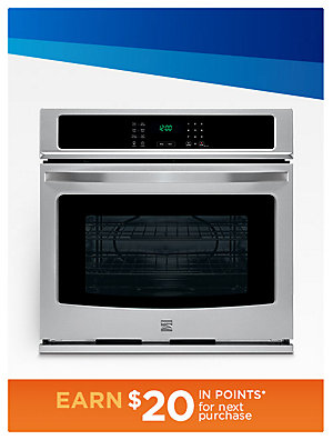 50% off Kenmore Wall Ovens Kenmore 30-in. single wall oven Sale $739.99 | reg. $1479.99