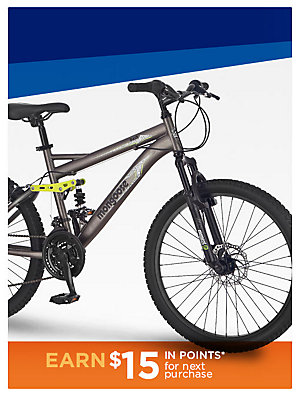 "25% off bikes Mongoose 24"" boys Bash Mountain Bike Sale $150 