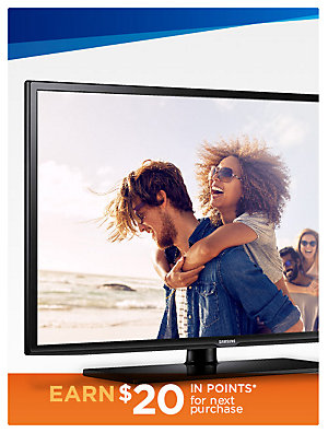 "Up to 20% off Top Brand TVs Samsung UN55J6201 55"" Class 1080p Smart LED HDTV sale $449.99 | reg $699.99"
