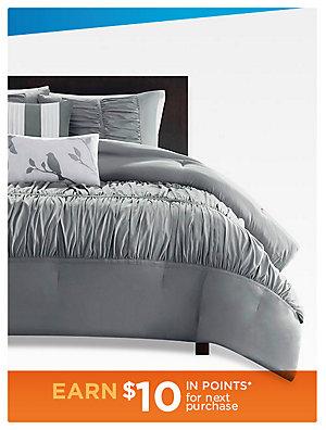 5-piece comforter sets Chic Home and Colormate 5-piece comforter sets, sale $64.99 queen, reg $99.99-$151.99