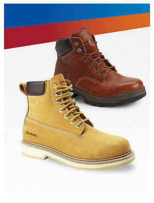 Sale $79.99 work boots from great brands like DieHard, Wolverine & Cat Footwear