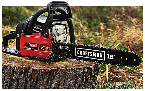 Tough tools for tough cuts Get great deals on Craftsman chainsaws