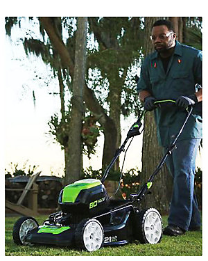 Up to 30% off Greenworks lawn & garden Make the neighbors green with envy