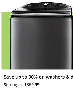 Up to 30% off washers and dryers