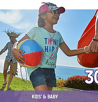 30% Off Kids' & Baby Clothing