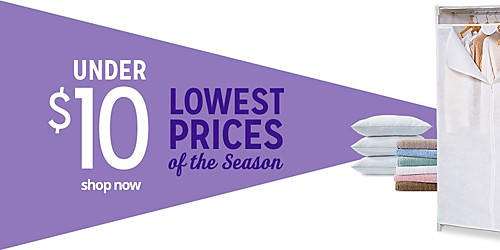 UNDER $10 SHOP NOW | LOWEST PRICES of the Season