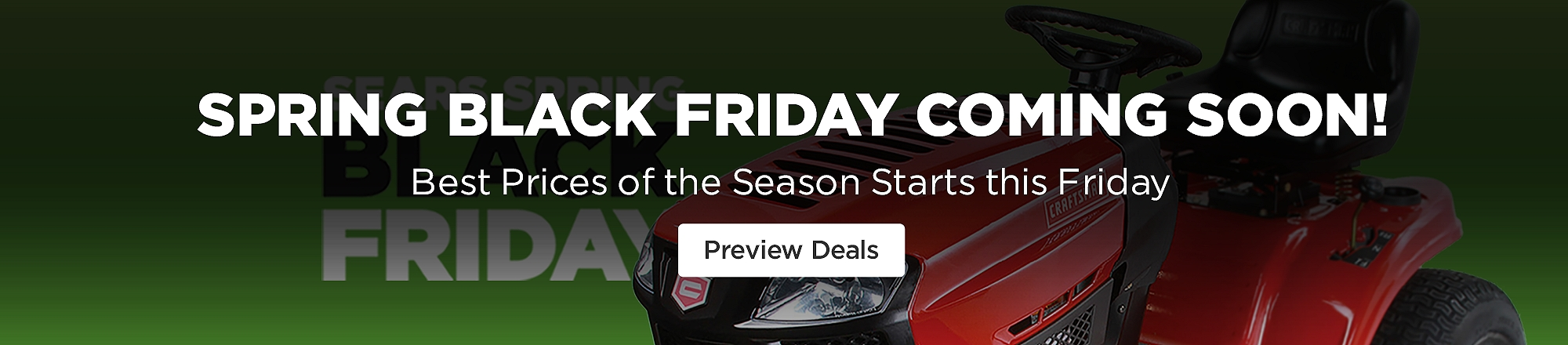 Sears Spring Black Friday Deals Coming Soon with preview