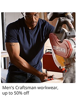Mens Craftsman workwear up to 50% off