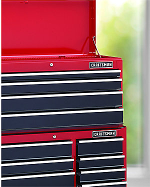 "Craftsman 41"" Wide 12-Drawer Ball-Bearing Tool Chest and Cabinet Combination $399.97 