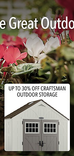 Up to 30% off Craftsman Sheds & Outdoor Storage